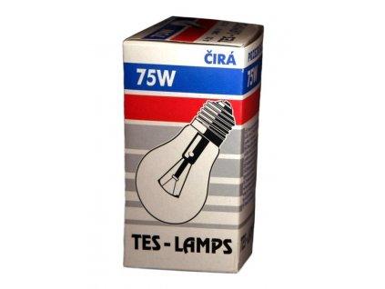 Topný článek E27 75W - čirá TES-LAMP s.r.o. E27075CIRA