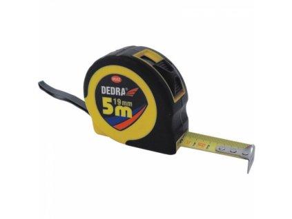 Svinovací metr 5 m/19 mm pouzdro ABS + guma DEDRA M582