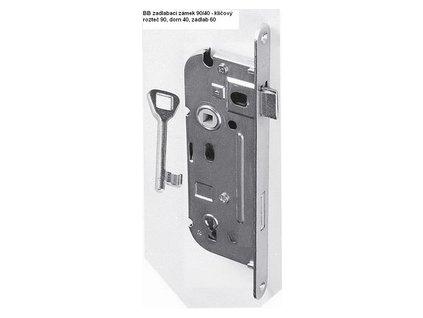 Zámek pro domovní dveře 90/40, rozteč 90, dorn 40, zádlab 60 - klíčový