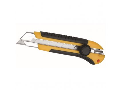 Kapesní pracovní nůž 25 mm rukojeť ABS + guma, vodič břitu kovový DEDRA M9011
