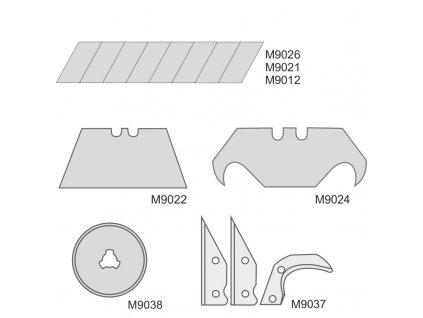 Náhradní odlamovací břity do nože 25 mm 10 ks DEDRA M9012
