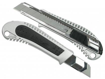 Kapesní pracovní nůž 18 mm kovový + guma, břit odlamovací