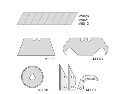 Břity 9 mm 10 ks DEDRA M9026
