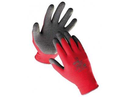 Rukavice nylonové s pružnou gumovou dlaní - velikost 6