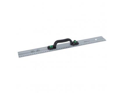 Hliníková měrka 50 cm, 2 libely v madle