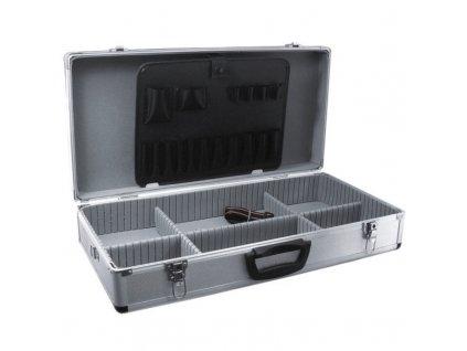 Hliníkový kufr na nářadí 640x320x150 stříbrný