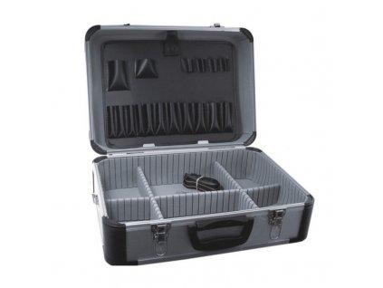 Hliníkový kufr na nářadí 455x330x170 stříbrný