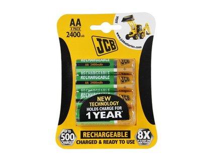 RTU NiMH AA/R06, min.2400mAh, přednabitá baterie, blistr 4 ks JCB JCB-HR62600RC-4B