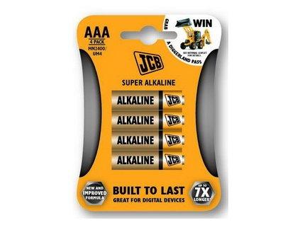 JCB SUPER alkalická baterie AAA/LR03, blistr 4 ks