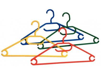 Ramínko na oblečení plastové velké 42 cm - 10 ks; různé barvy