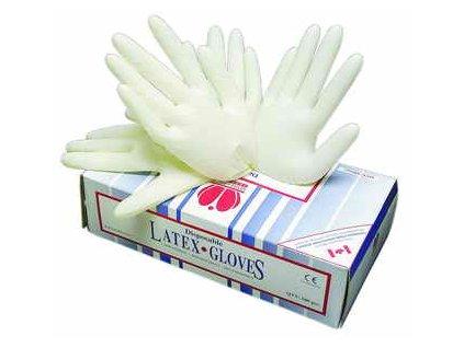Jednorázové latexové rukavice LOON,  velikost M - 100 ks