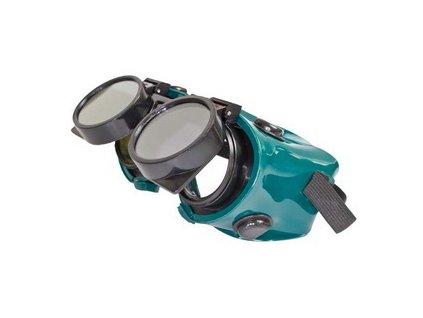 Ochranné svářečské brýle - odklápěcí kruhové zorníky, tmavost skla DIN10 MAGG OB159
