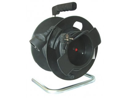 Prodlužovací kabel na bubnu 25m,  1x zásuvka Solight PB11