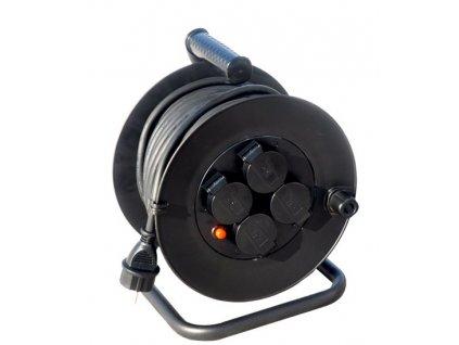 Prodlužovací kabel na bubnu 50m,  4x zásuvka venkovní Solight PB34