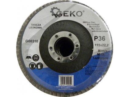Brusný lamelový kotouč (korund) - 115x22,23 mm / P36 GEKO nářadí G00310
