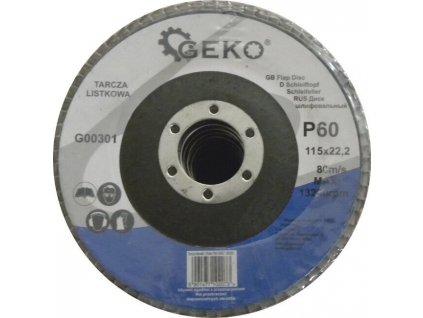 Brusný lamelový kotouč (korund) - 115x22,23 mm / P60