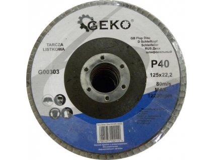 Brusný lamelový kotouč (korund) - 115x22,23 mm / P80 GEKO nářadí G00302