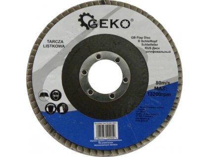 Brusný lamelový kotouč (korund) - 115x22,23 mm / P100 GEKO nářadí G00311