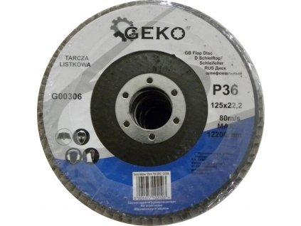 Brusný lamelový kotouč (korund) - 125x22,23 mm / P36 GEKO nářadí G00306