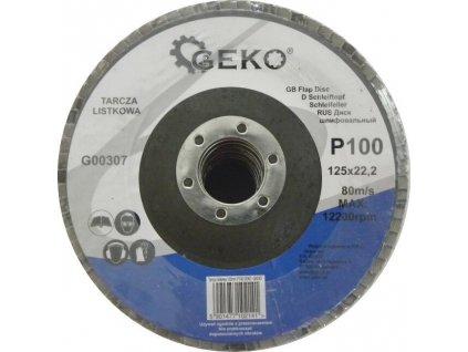 Brusný lamelový kotouč (korund) - 125x22,23 mm / P100 GEKO nářadí G00307