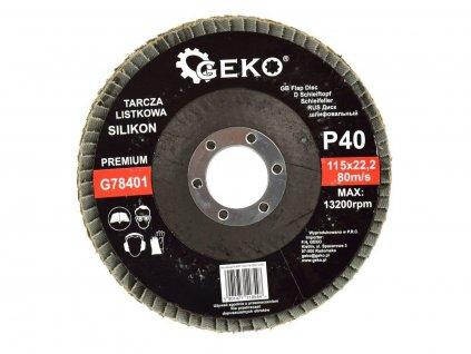 Brusný lamelový kotouč (karbid křemíku) - 115x22,23 mm / P40 GEKO nářadí G78401