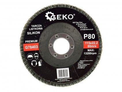 Brusný lamelový kotouč (karbid křemíku) - 115x22,23 mm / P80 GEKO nářadí G78403