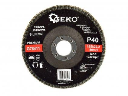 Brusný lamelový kotouč (karbid křemíku) - 125x22,23 mm / P40 GEKO nářadí G78411