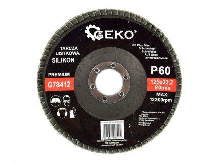 Brusný lamelový kotouč (karbid křemíku) - 125x22,23 mm / P60 GEKO nářadí G78412