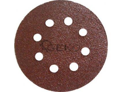 Brusný papírový výsek s otvory se suchým zipem (korund) - 125 mm / P80