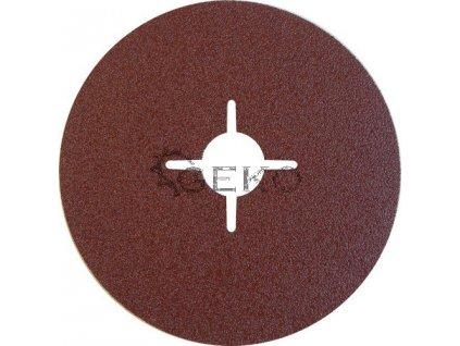 Fíbrový kotouč s výřezy (korund) - 125x22,23 mm / P80