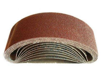 Nekonečný brusný pás do pásové brusky (korund) - 75x533 mm / P80