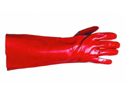 Máčené rukavice PVC manžeta 35 cm, velikost 10