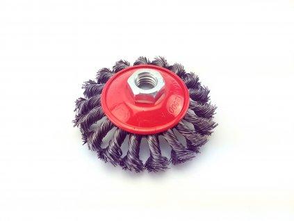 Copánkovýmiskový kartáč (ocelový) - 100 x M14 GEKO nářadí G00605