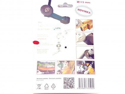 Rotační rašple do úhlové brusky 115x22,2mm - standard čepel 2,0mm
