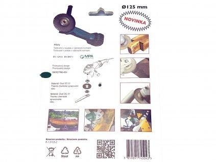 Rotační rašple do úhlové brusky 125x22,2mm - jemná čepel 1,5mm