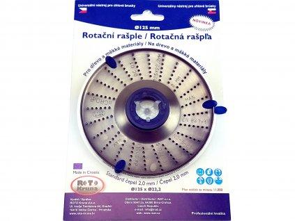 Rotační rašple do úhlové brusky 125x22,2mm - standard čepel 2,0mm ROTO Kruna ROTO12520