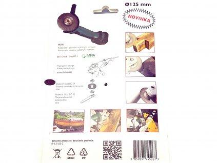Rotační rašple do úhlové brusky 125x22,2mm - hrubá čepel 2,5mm