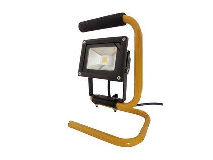 Stavební LED reflektor 10W s držadlem