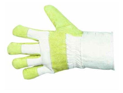 Pracovní kožené zateplené rukavice, velikost 11