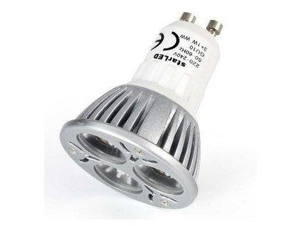 LED bodové světlo 3x2W, GU10, 220V, teplá bílá WW - ekvivalent 25W starLED SLGU10220V