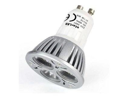 LED bodové světlo 3x2W, GU10, 220V, teplá bílá WW - ekvivalent 25W