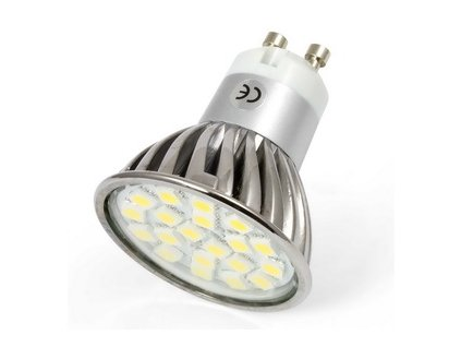 LED bodové světlo, závit GU10, 3W, 3300K, 20SMD, 220V starLED SLGU105050