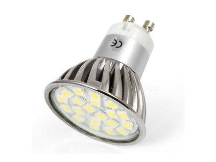 LED bodové světlo, závit GU10, 3W, 3300K, 20SMD, 220V