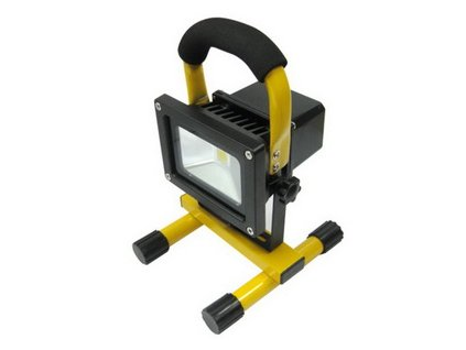 LED AKU reflektor MCOB LED 10W nabíjecí - 12V/220V, IP65, Li-ion 7,4V-4,4Ah 4000-5000K