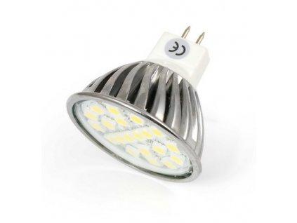 LED bodové světlo, závit MR16, 3W, 3300K, 12V, 20SMD