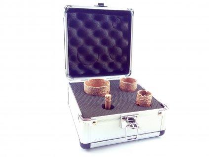 Vykružovací korunky do obkladů ze závitem M14 pro úhlové brusky - 10, 25, 35, 50 mm  + oblíbená sada vrtacích korunek v praktickém kufříku