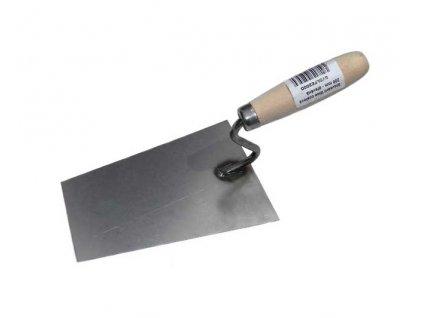 Stavební lžíce ocelová 180 mm - dřevěná rukojeť