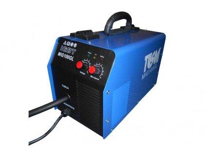 Poloautomatická oblouková svářečka SV100-GL na plněný drát FLUX  + lehká a přenosná, odpadá potřeba CO2 lahve
