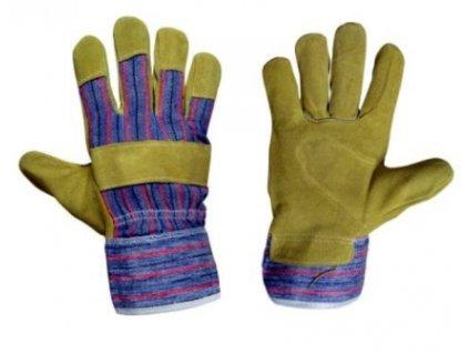 Pracovní rukavice hovězí štípenka vel. 10