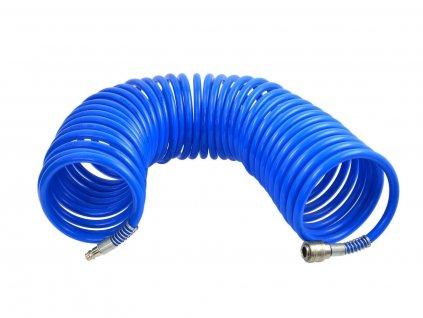 Vzduchová spirálová hadice ke kompresoru včetně spojek - (8 x 12)/15m GEKO nářadí G01171